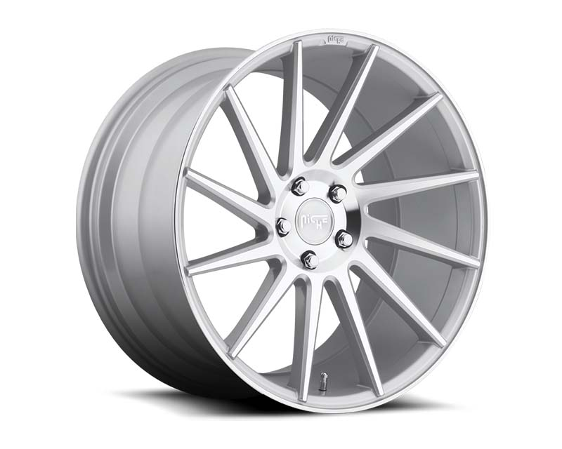 Niche Surge M112 Silver Machined Left Wheel 19x8.5 5x112 +25mm - M112198543+25