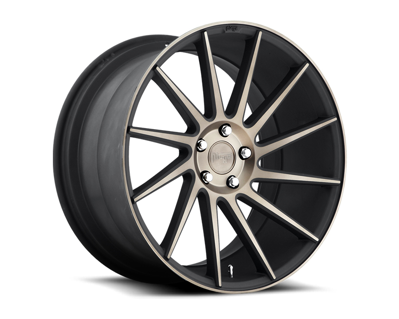 Niche Surge M114 Black & Machined with Dark Tint Right Wheel 19x10 5x112 +40mm - M114190043+40R