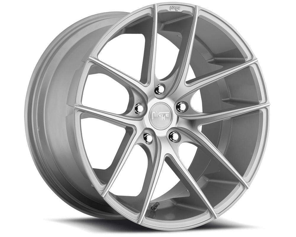 Niche M131 Targa Silver & Machined 1-Piece Cast Wheel 19x8.5 5x112 42mm - M131198543+42