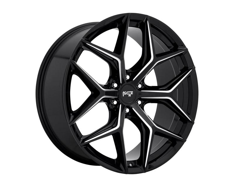 Niche M232 SUV Wheel 24x10 6X5.5 30mm Gloss Black Milled - M232240084+30