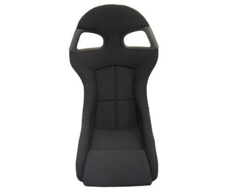 Image of RevoZport Black Cloth Porsche 996 GT3 Style Side Mount Racing Seat