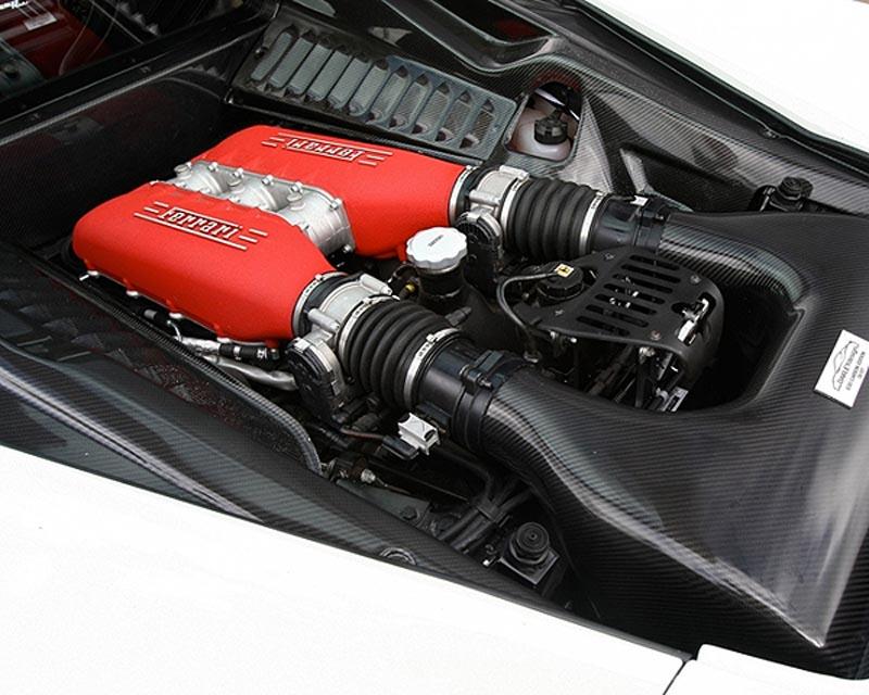 Oakley Design Carbon Fiber Engine Bay Cover Set Ferrari 458 Italia 10+ - OD/458FER/CFA/010p