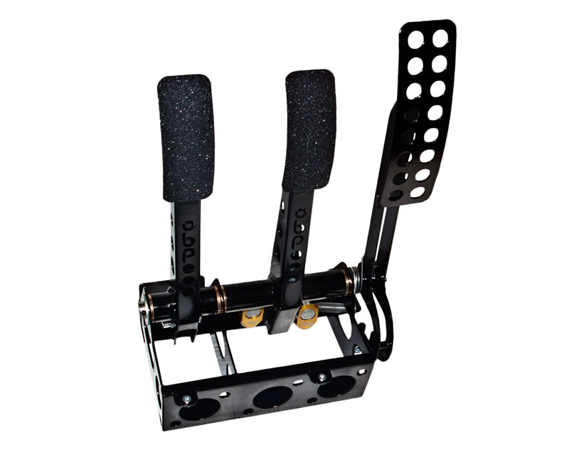 obp Motorsport Pro-Race Floor Mounted 3 Pedal Hydraulic Clutch Brake Cockpit Fit Pedal Box - OBP002PRC