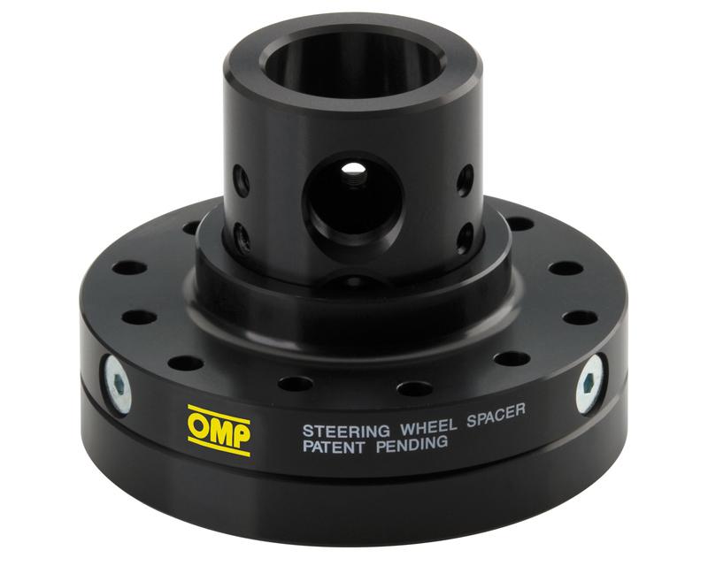 Image of OMP Adjustable Steering Wheel Spacer Black