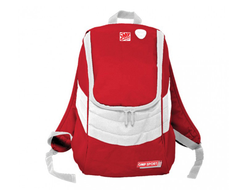 Image of OMP Racing OS 100 Backpack RedWhite 12 X 17 X 7