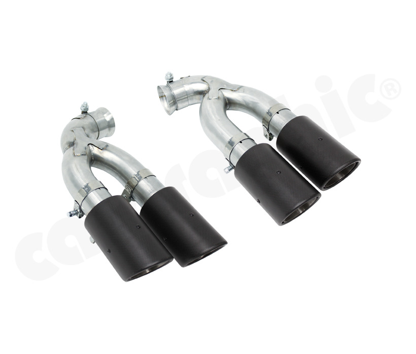 Cargraphic Tailpipe Set Double End Carbon Porsche Cayenne 958 Sc Petrol All 02-17 - PERP58V6SCER44KEV