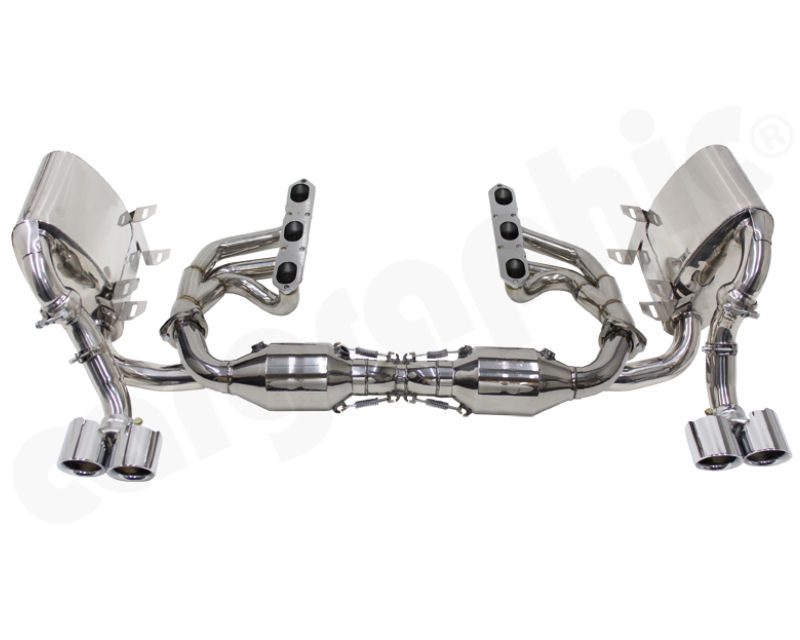 Cargraphic Sport Exhaust System without Integrated Exhaust Flaps Porsche 997.1 Carrera 3.6L | 3.8L 05-08 - PERP97KITX