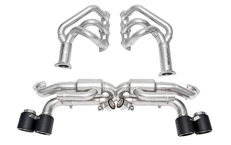 SPP Competition Package Carbon Fiber Tips | Valve Controller Porsche 991.1 Carrera S | GTS o PSE 12-16 - POR.9911.COPKG.CFT.VC