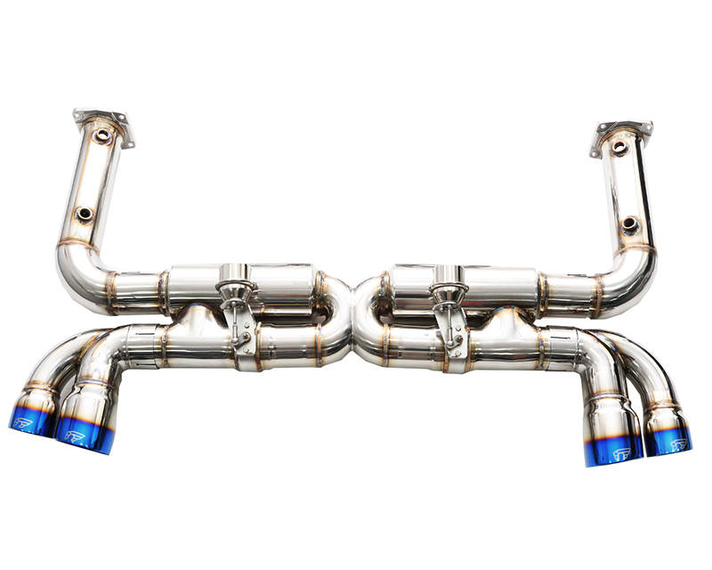 IPE Stainless Steel Valvetronic Exhaust System with Remote and Quad Polished Tips Porsche 996 Turbo | GT2 01-05 - PR005SC