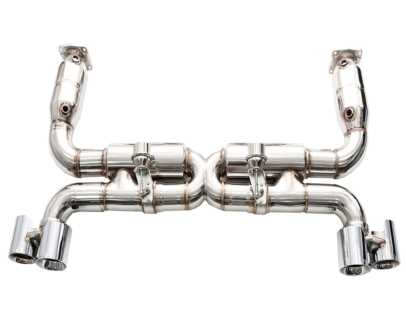 IPE Stainless Steel Valvetronic Exhaust System with Remote and Quad Polished Tips Porsche 997 TT | S | GT2 07-09 - PR010SC