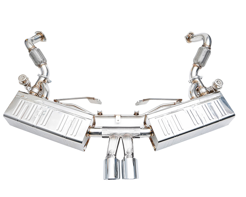 IPE Stainless Steel Valvetronic Exhaust System with Remote and Dual Polished Tips Porsche Boxster 981 13-16 - PR034