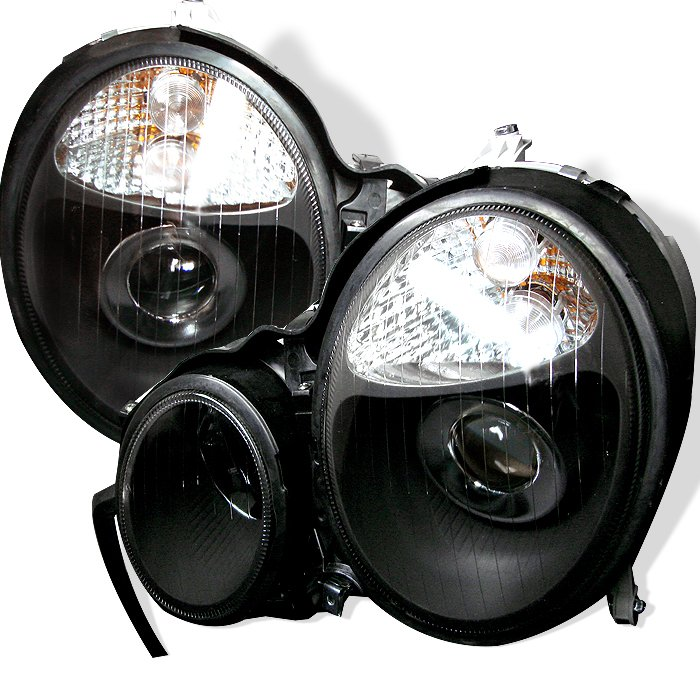 Spyder Black Projector HeadLights Mercedes E-Class W210 00-02