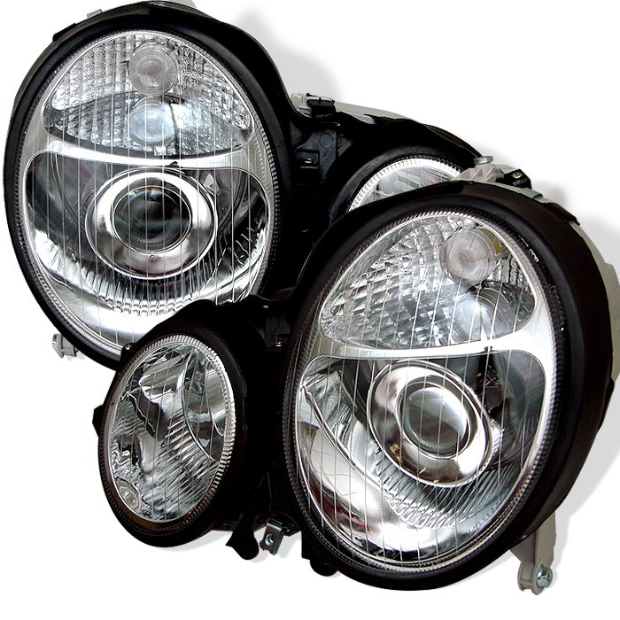 Spyder Chrome Projector HeadLights Mercedes E-Class W210 00-02
