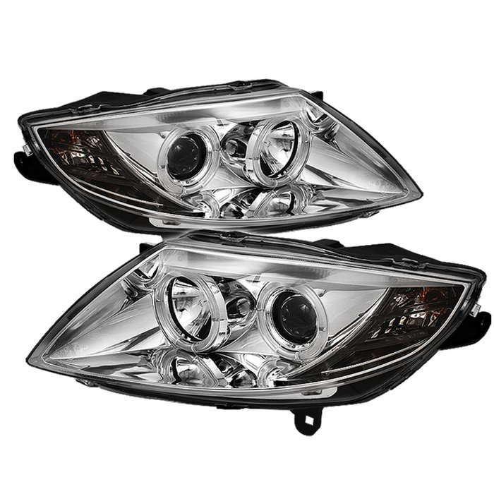 Spyder Non HID Type Halo chrome Projector HeadLights BMW Z4 03-08 - PRO-YD-BMWZ403-HL-C
