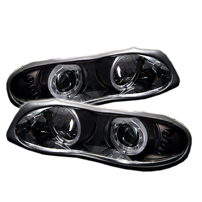 Spyder Halo LED Black Projector HeadLights Chevrolet Camaro 98-02 - PRO-YD-CCAM98-HL-BK
