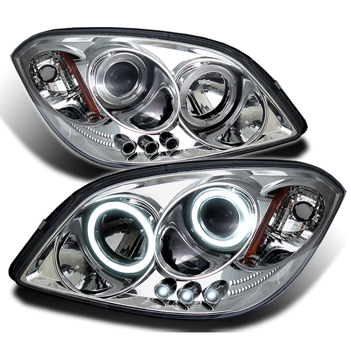 Spyder Halo LED Chrome Projector HeadLights Chevrolet Cobalt 05-09 - PRO-YD-CCOB05-HL-C