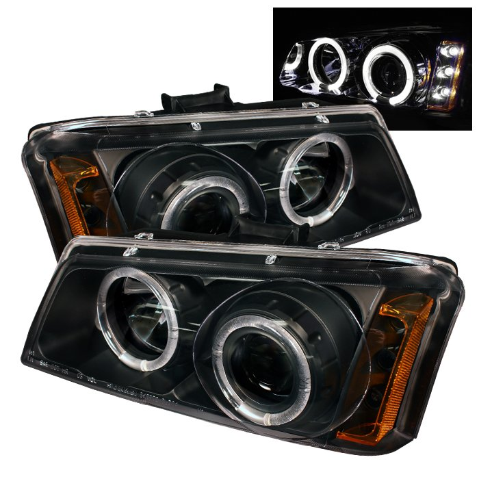 Spyder Halo Black Projector HeadLights Chevrolet Silverado 1500 2500 3500 03-06 - PRO-YD-CS03-AM-BK
