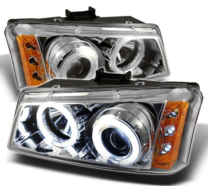 Spyder CCFL Chrome Projector HeadLights Chevrolet Silverado 1500 2500 3500 03-06 - PRO-YD-CS03-CCFL-C