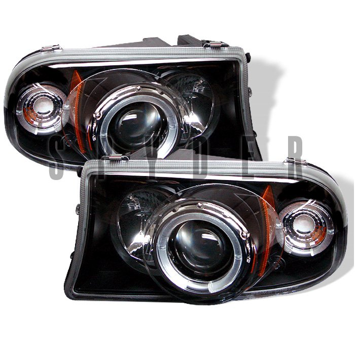 Spyder 1Pc Halo Black Projector HeadLights Dodge Dakota 97-04 Durango 98-04 - PRO-YD-DDAK97-BK