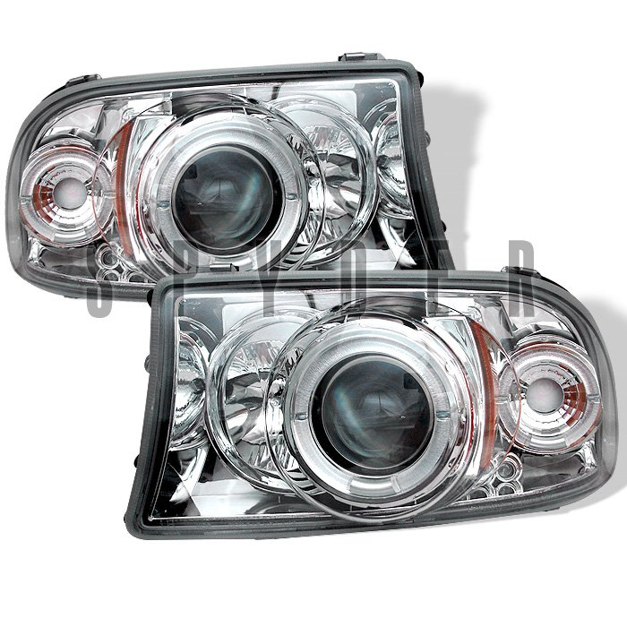 Spyder 1Pc Halo Chrome Projector HeadLights Dodge Dakota 97-04 Durango 98-04 - PRO-YD-DDAK97-C