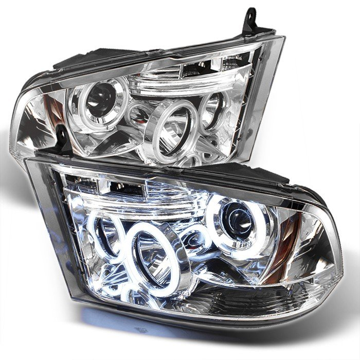 Spyder CCFL LED Chrome Projector HeadLights Dodge Ram 1500 09-10