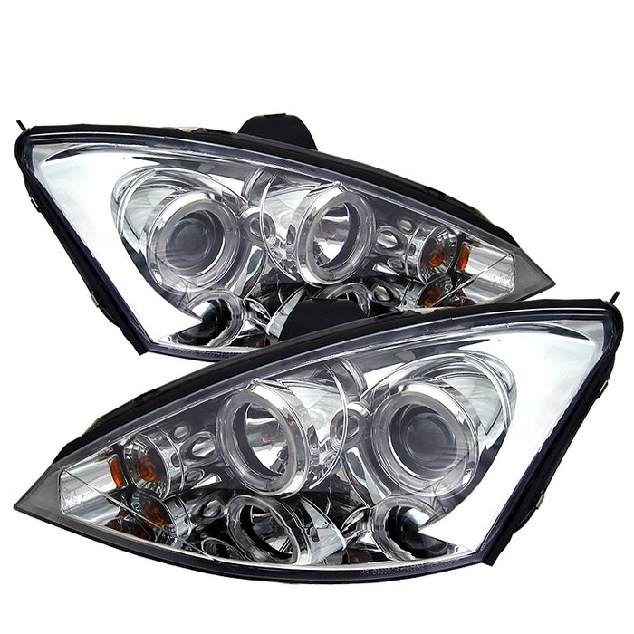 Spyder Halo Chrome Projector HeadLights Ford Focus 00-04 - PRO-YD-FF00-HL-C