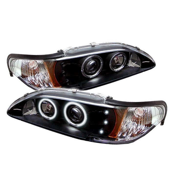 Image of Spyder 1Pc CCFL LED Black Projector HeadLights Ford Mustang 94-98