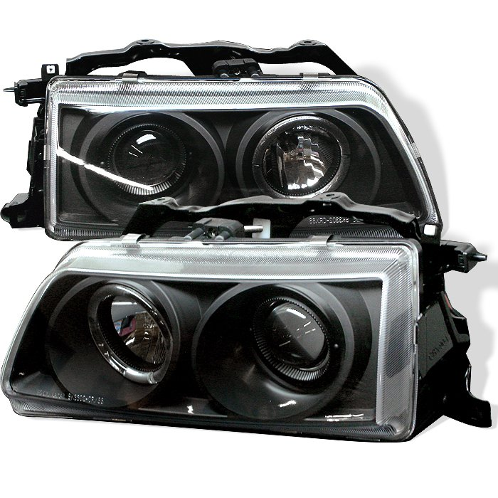 Spyder Halo Black Projector HeadLights Honda Civic 88-89 Crx 88-89 - PRO-YD-HC88-HL-BK
