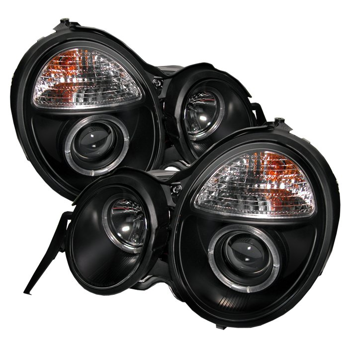 Spyder Halo Black Projector HeadLights Mercedes Benz W210 E-Class 95-99