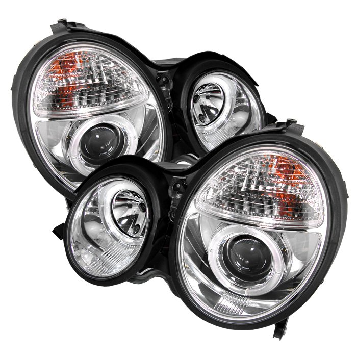 Spyder Halo Chrome Projector HeadLights Mercedes Benz W210 E-Class 00-02 - PRO-YD-MBW21099-HL-C