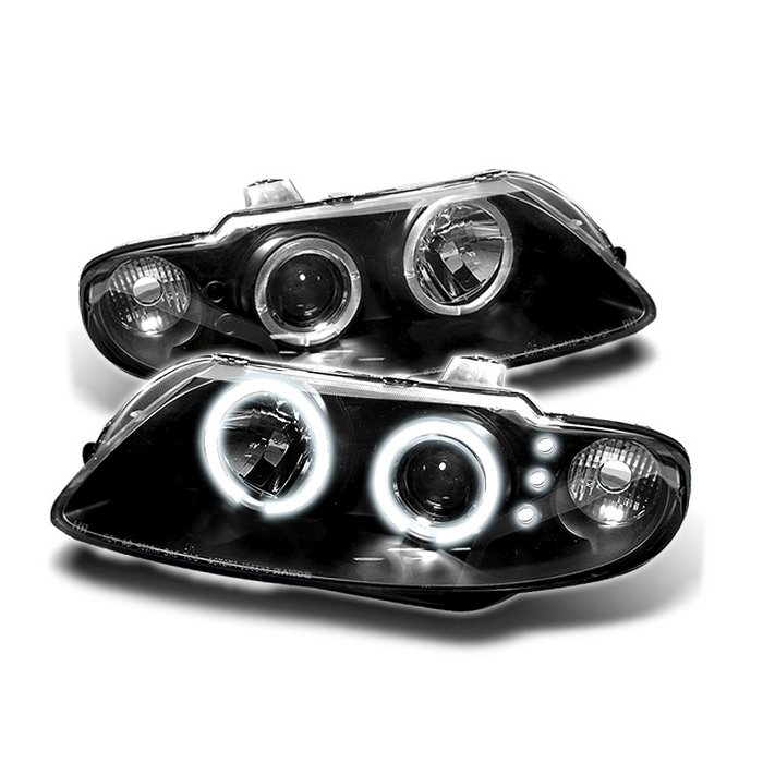 Spyder Halo LED Black Projector HeadLights Pontiac GTO 04-06