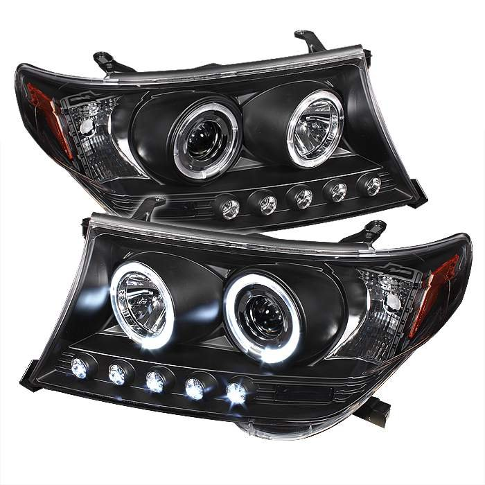 Spyder Halo Black Projector HeadLights Toyota Land Cruiser 08-09