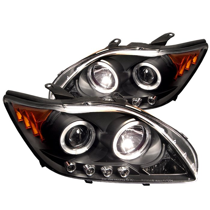Spyder Halo LED Black Projector HeadLights Scion Tc 05-10