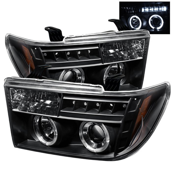 Spyder Halo Black Projector HeadLights Toyota Tundra 07-09