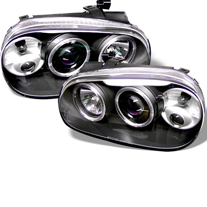 Spyder Halo Black Projector HeadLights Volkswagen Golf Iv 99-05