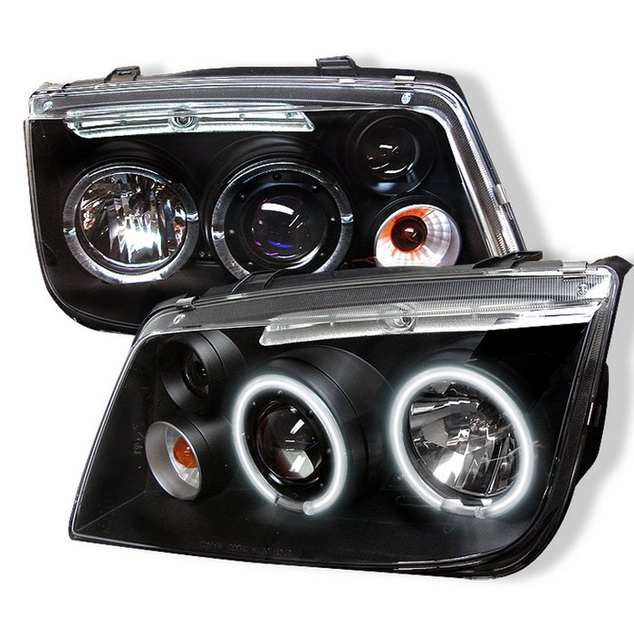 Spyder Ccfl Led Black Projector Headlights Volkswagen Jetta 99 05