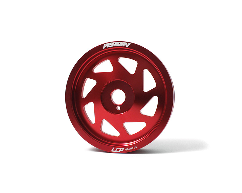 Perrin Performance Red Lightweight Crank Pulley Toyota GT-86 13-14
