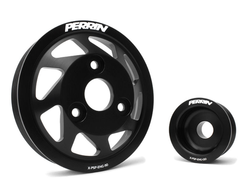 Perrin Performance Black Lightweight Accessory Pulley Kit Scion FR-S 13-14