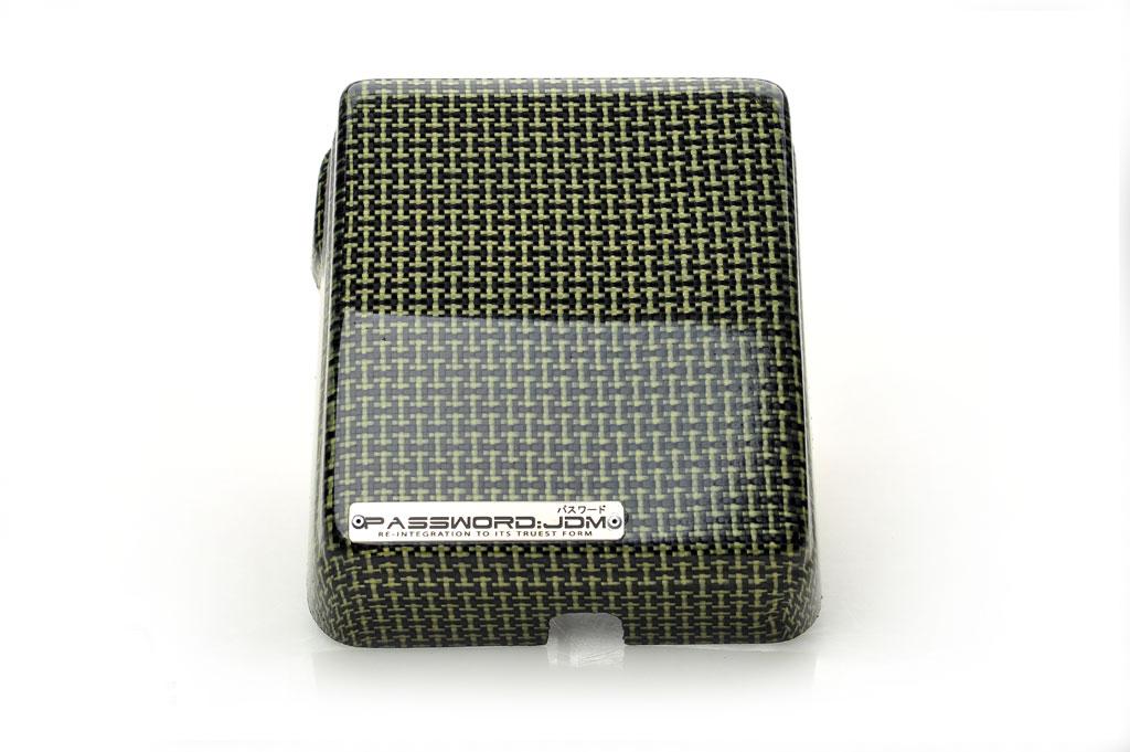 Password JDM Dry Carbon Kevlar Fuse Box Over-Cover Type II Mitsubishi EVO X 2008-13 - PWCFB-EVX-T2K