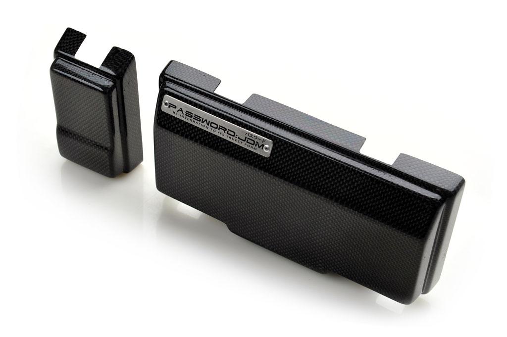 Password JDM Dry Carbon Fiber Fuse Box Over-Cover Honda S2000 00-09 - PWCFB-S2K-00C