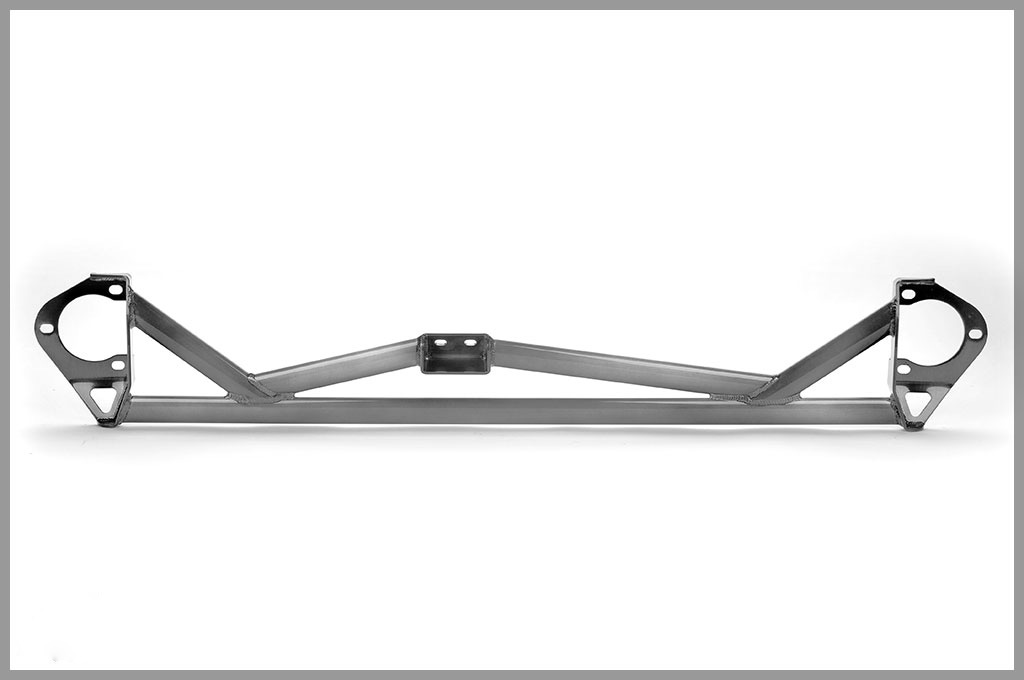 Image of Password JDM 5 Point Front Strut Tower Bar White Mitsubishi EVO X 08-13