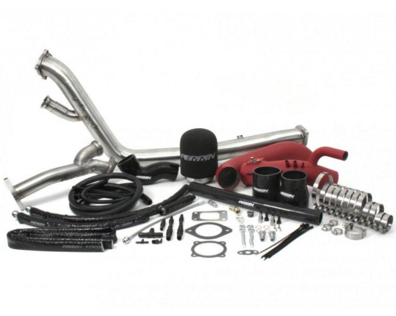 Perrin Performance Red Rotated Turbo Kit GT3076R.63AR Subaru WRX STI 08-14