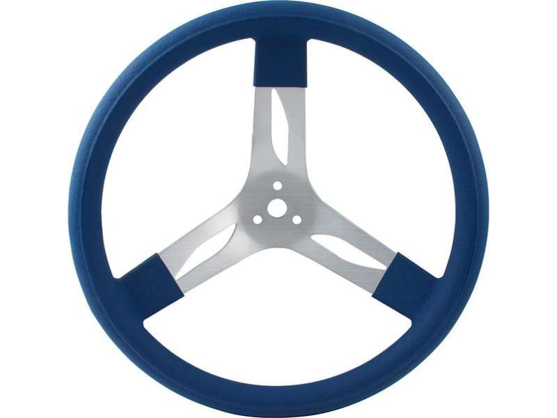 Quickcar Racing Products 15 inches Steering Wheel Alum Blue - QRP68-0012