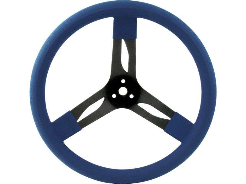 Quickcar Racing Products 15 inches Steering Wheel Stl Blue - QRP68-0032