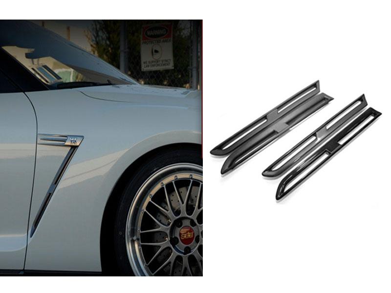 Titek Carbon Fiber Fender Grill Set (Matte) Nissan GTR R35 09-13 - R35-1004D