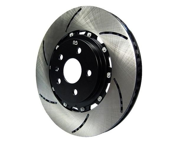 Racingbrake 330x26x56mm 2 piece open slot rear rotors for Mercedes benz c300 brake rotors