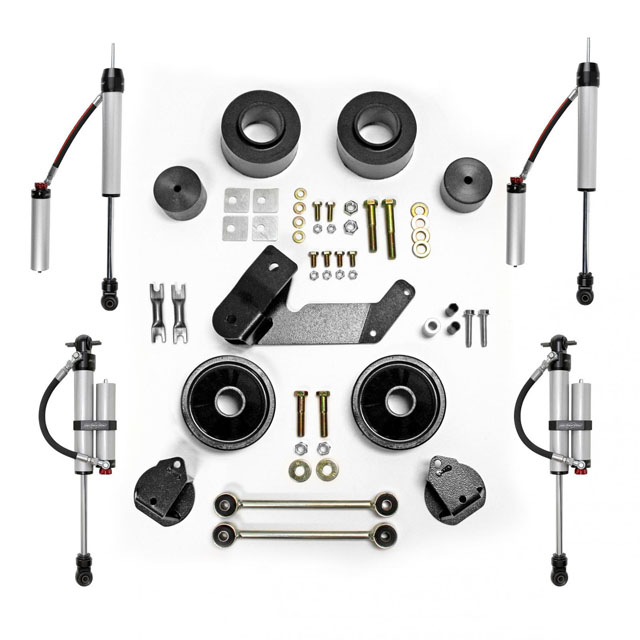 2.5 Inch Spacer Lift Kit with Monotube Reservoir Shocks 07-18 Jeep Wrangler JK 2 and 4 Door Rubicon Express - RE7133MR