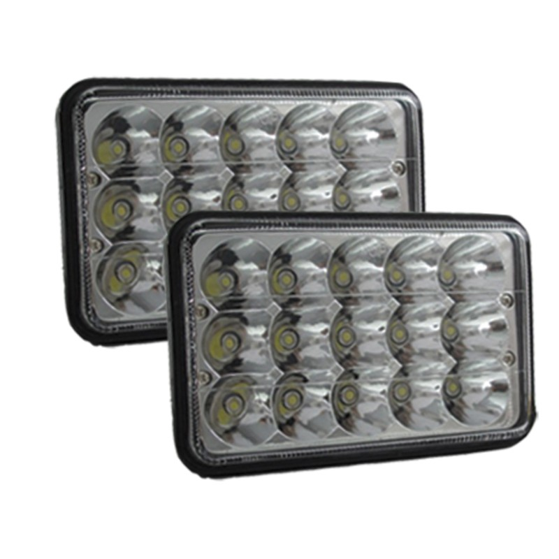 Race Sport Lighting 4x6 Inch LED Sealed Beam Left and Right Conversion Lens  90-Watts - RS-4X6-LEDC-PR