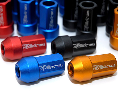 Titek Racing Lug Nut: 12x1.50 Red (Short) - RLN-12150-RD