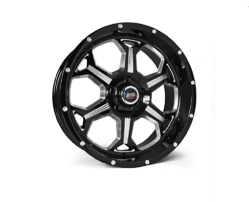 Rebel Racing Fortress Wheel 20x9 6x139.7 0mm Black/Machined - 101-0908300-TBM